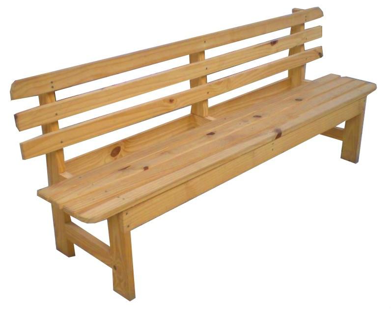 Producto Banca de pino con respaldo | Corralon Maderas America ...