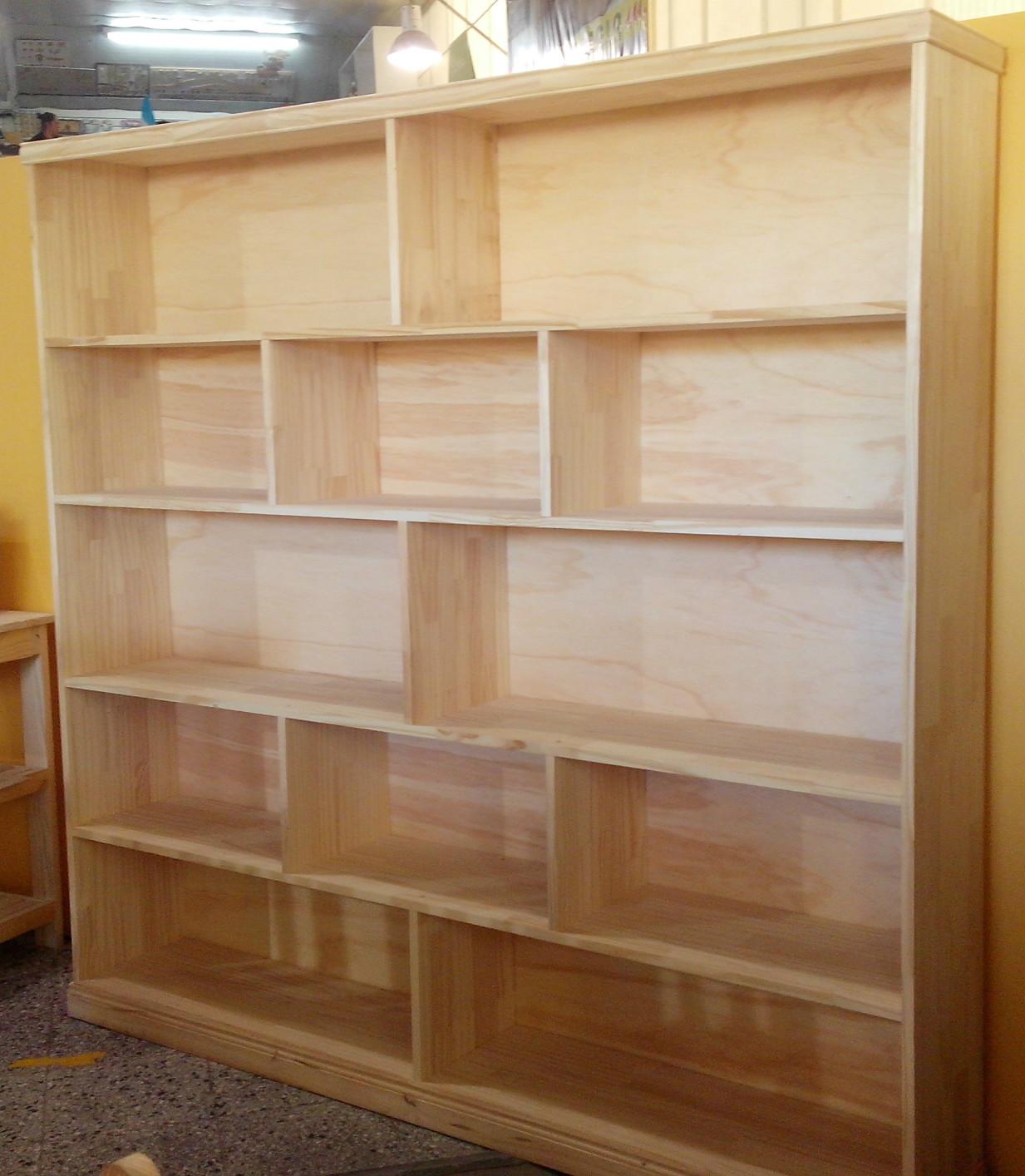 Producto Biblioteca De Tablero De Pino Corralon Maderas America - Bibliotecas-de-madera