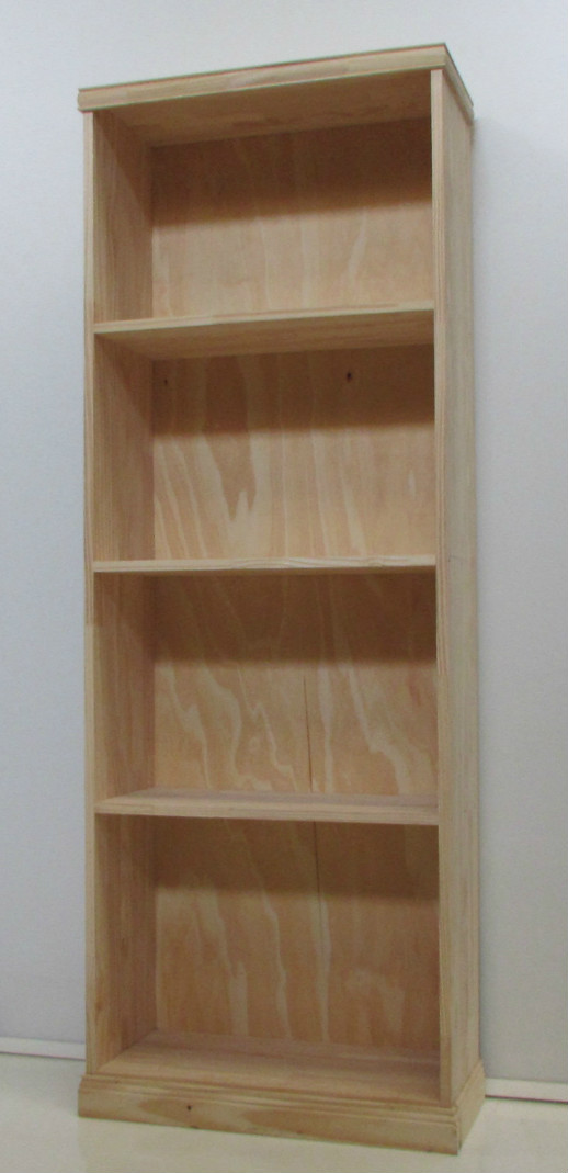 Producto Biblioteca de pino con estantes  Corralon Maderas America