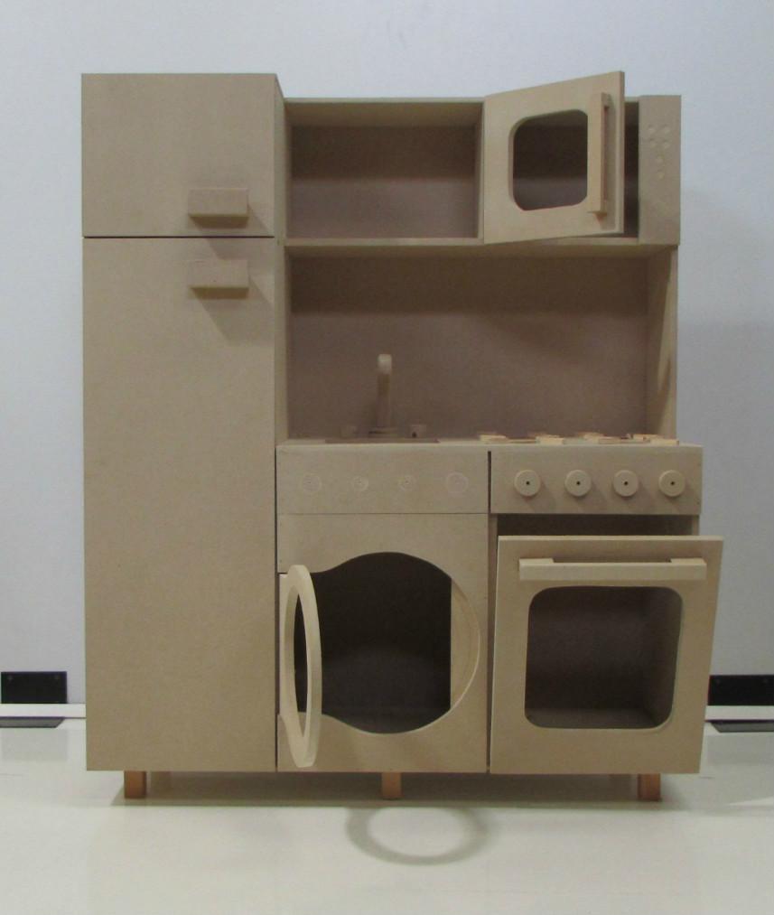 Producto cocina integral para ni os corralon maderas - Cocinas de juguetes de madera ...