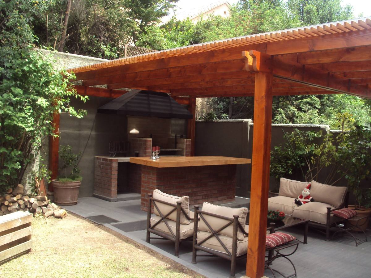 Pergola de madera for Mesa plegable quincho