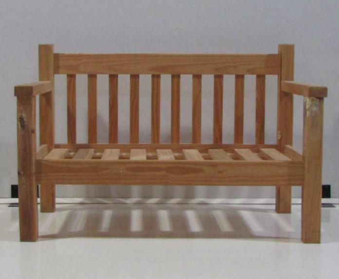 Producto sill n doble de pino corralon maderas america for Sillones para terrazas precios