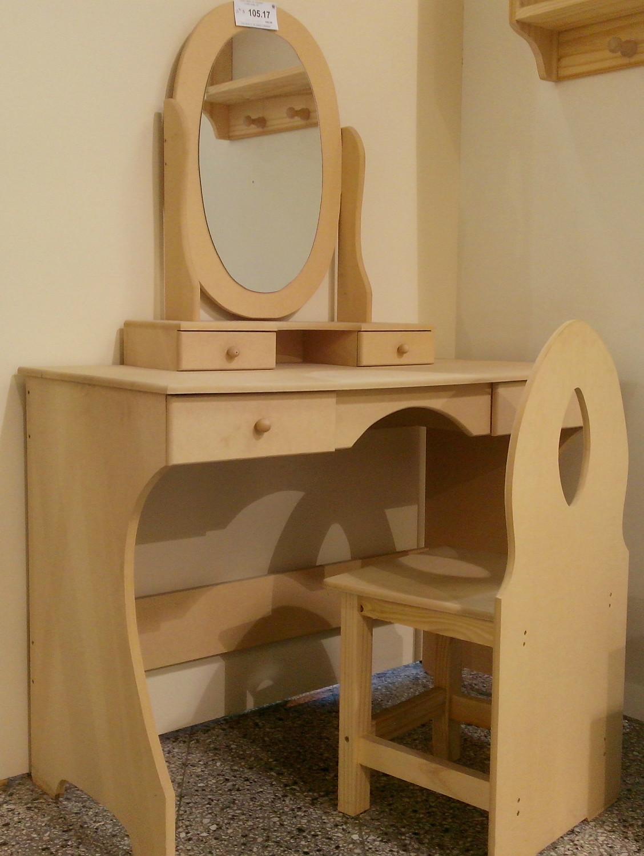 Producto tocador con espejo oval corralon maderas - Tocador con espejo ...